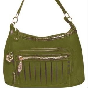 Brighton Dark Green Nylon Crossbody